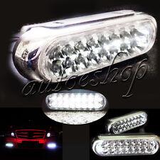2x Universal 16 LED Car DRL Day Driving Daytime Running Fog White Light Lamp US