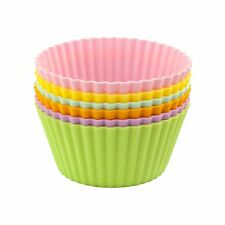 """Casabella Large Silicone 4"""" Muffin / Cupcake Cups - Set of 6"""