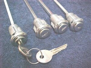 (4) New Door Locks & Keys Kenworth IHC Mack White Freightliner Peterbilt Truck