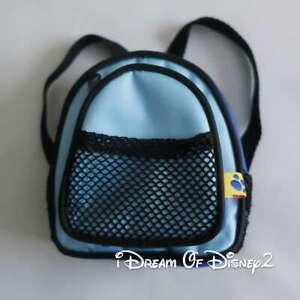 Build-A-Bear TEDDY BLUE 2 POCKET ZIPPER BACKPACK SCHOOL BOOK BAG Toy Accessory