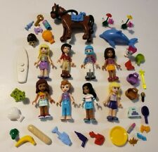Lot of Lego Friends Minifigures and Accessories - Pony - Girl - Hair- Pets Clean