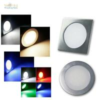 Slim LED Einbau-Leuchte Alu matt 12V 0,5W IP67 trittfest / Einbau-Strahler Spot