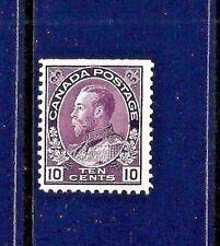 1911+ Canada Scott #116 Unused ~ Sc CV = $275.00 ~ King George V 'Admiral' Issue