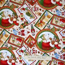 Christmas Fabric - Mouse Polar Bear Nutcracker Toss Cream - RJR Cotton YARD