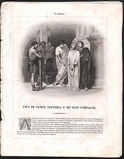 VITA DI SANTA VITTORIA-AUTORE DRIOUX-1863-ILLUSTRATO-pp. 8- L1609