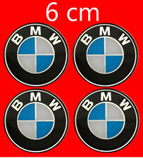 BMW Wheel Trims Center Hub Caps Badge Emblem Sticker 6cm  60mm Set of 4