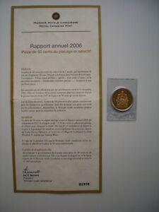 2006 Gold Plated Silver Canada 50 Cents Royal Canadian Mint