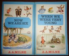 A A MILNE When We Were Very Young Now We Are Six paperback books Methuen vintage