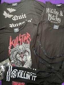 Womens Killstar Clothing Bundle Size L Gothic Tops Dresses