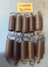 """EXTENSION SPRINGS,2.65"""" FREE LENGTH, 0.75"""" OD, 0.105"""" WIRE DIA. LOT OF 10"""