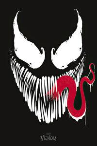 "Venom - Marvel Comic Poster / Print (Face / Tongue) (Size: 24"" X 36"")"