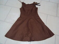 BNWT BROWN WOOL SLEEVELESS DRESS, SIZE 8 PETITE