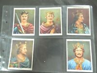 1935  KINGS & QUEENS ENGLAND 1066-1935 set 50-1 large cards Tobacco Cigarette