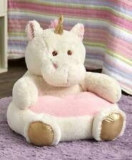 KIDS' PLUSH UNICORN ANIMAL CHAIR ULTRA SOFT KIDS' FURNITURE AGES 2 AND UP