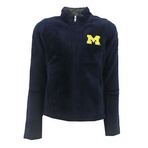 Michigan Wolverines NCAA Kids Youth Girls Size Full Zip-Up Fleece Jacket New