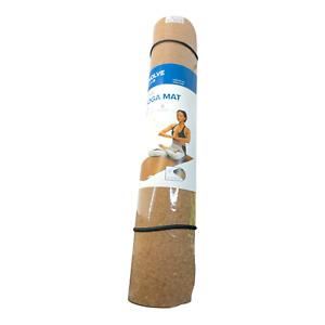 Evolve by Gaiam Cork Yoga Mat Cushioned Blocks Odor & Moisture Non Slip NEW
