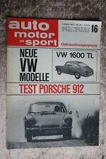 AMS 16/65 Porsche 912 VW 1600 TL Vauxhall Viva