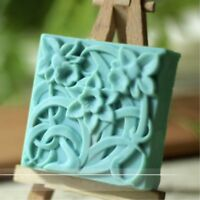 Square Flower Mold Silicone Soap Bar Mold Handmade Craft Candle Resin Mold