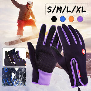 Sport Neoprene Waterproof Touch Screen Thermal Gloves Mittens Winter Me + #