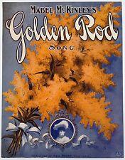 "SHEET MUSIC STORE POSTER ""GOLDEN ROD SONG"" ADVERTISING LARGE FORMAT"