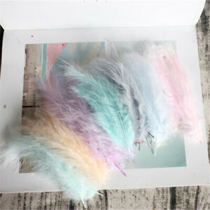 100 pcs 4-6inches/10-15cm Natural Turkey Marabou Feather DIY jewelry accessories