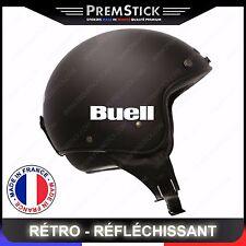 Kit 4 Stickers Retro Reflechissant Buell ref2; Casque Moto autocollant
