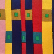 Vtg Liberty Fabric Bauhaus retro 1960s 1970s Modernist DIY art wall hanging #4