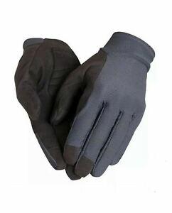 RAPHA Men's Explore Full Finger Cycling Gloves Carbon Grey Black Size M NEW