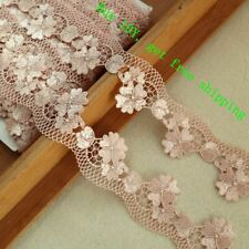 "Lily 12/"" x 3.5/"" Off-White Floral Guipure Venice Lace Collar Neckline by Pair"