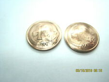 coin cuff links-1966-1992-cute! Vintage Australian Opossum