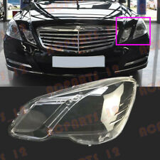 Left Side Transparent Headlight Cover+Glue Replace For Mercedes W212 2010-2013