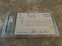 George Archer and Larry Ziegler Official Signed Golf Scorecard Slabbed - PSA/DNA