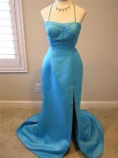 NWOT LANDA Cire beaded prom social occasion formal pageant Slit dress 10 Blue