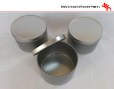3 Aluminium containers/tins , candle making - ideal for soya wax, confectionary