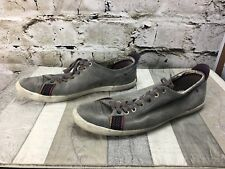 Paul Smith VESTRI UK 8 Grey Leather Suede Tie Up Flat Sole Shoes