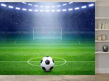 Football Soccer Stadium Ball Lights Wall Mural Photo Wallpaper GIANT WALL DECOR