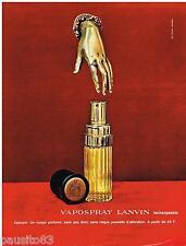 PUBLICITE ADVERTISING 0105  1964  LANVIN  le vaporisateur rechargeable de parfum