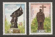 Macau 1968 Sg507/508 Pedro Cabral (explorer) Mnh Cat £24+ (Jb13312)