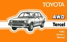 1985 Toyota 4WD Tercel Owners Manual User Guide Reference Operator Book Fuses