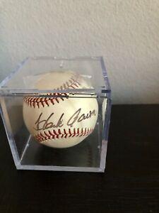 HOF HANK AARON Signed Auto Autograph baseball JSA COA LOA OMLB 1974-1976