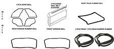 Full Rubber Door Trunk Bumper Window Seals Fit Mercedes Benz W114 W115, 14 PCS