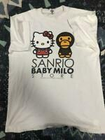 A BATHING APE BAPE x SANRIO Collabo Hello Kitty Baby Milo TEE Size L Rare