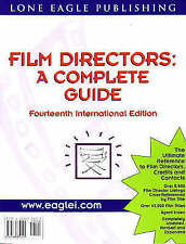 Film Directors: A Complete Guide by Michael Singer (Paperback, 1999)