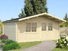 40 mm Gartenhaus 500x500 cm Gerätehaus Blockhaus Schuppen Holzhaus Holz Neu