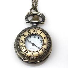 Steampunk Pocket Watch Necklace Victorian Style Locket Pendant  #3 Needs Battery