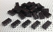 LEGO 2x4 Noir Brique (3001) x10 dans un ensemble * Brand New * CITY STAR WARS MARVEL