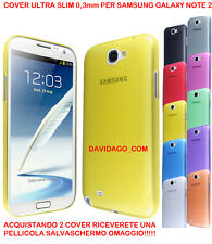 COVER PER SAMSUNG NOTE 2 N7100 ULTRA SLIM 0.3 CUSTODIA PROTEZIONE THIN COLORATA