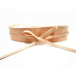 Women Wrap Around Tie Corset Waist Wide Dress Bow Belt Waistband Elastic
