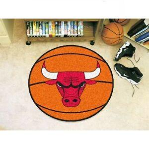 NBA - Basketball Mat 27 Inch Floor Protector Non Skid Rug Mat - Chicago Bulls