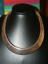 "Rose Gold Plated Brass Collar 19 "" plus extender Approx 140 x 20mm. Brand New."